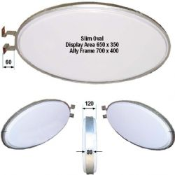 Standard Oval Double Sided Lightbox-Ceiling or Wall Fix-Landscape or Portrait
